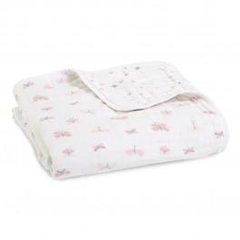 Aden+Anais Classic Dream Blanket, Decke für Babies und Kleinkinder, lovely reverie - butterflies