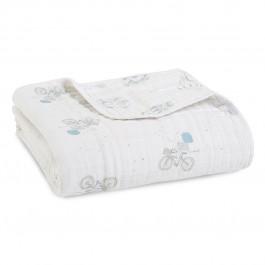 Aden+Anais Classic Dream Blanket, Decke für Babies und Kleinkinder, night sky reverie - elephants