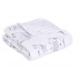Aden+Anais Buggy Blanket, Decke für Babies und Kleinkinder, lovebird