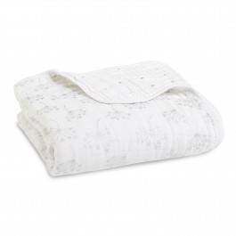 Aden+Anais Classic Dream Blanket, Decke für Babies und Kleinkinder, metallic silver deco *NEW*