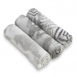 White Label by Aden+Anais 3er silky soft swaddle Pucktücher, Foragers