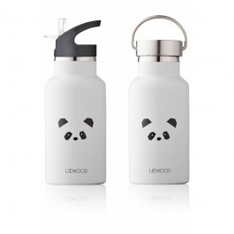 Anker Wasserflasche - Panda light grey