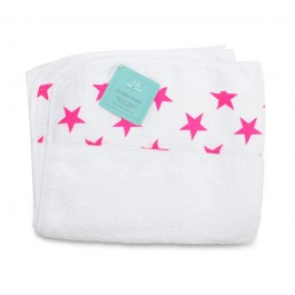 Aden+Anais Classic Toddler Towel, Kinderhandtuch, fluro pink