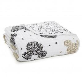 Aden+Anais Classic Dream Blanket, Decke für Babies und Kleinkinder, Mickey's 90th - scatter