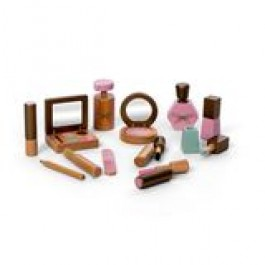 Make-Up Set, 13 Teile, aus Holz, von By Astrup