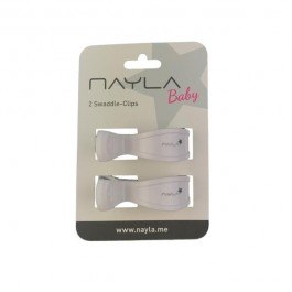 Nayla-2er SWADDLE CLIPS WHITE