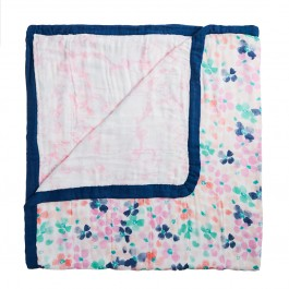White Label by Aden+Anais Silky Soft Dream Blanket, Decke für Babies und Kleinkinder, Mosaic