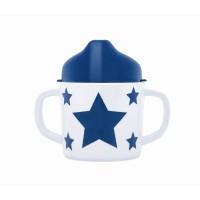 Trinklernbecher aus Melamin STARS - marine