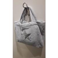 Pool Bag - Silber mit silber Stern
