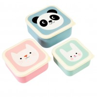 "Set 3 Snackdosen ""Panda"""