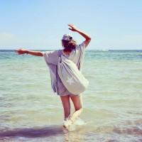 beach bag-SEA BAG Farbe silber/Stern weiß