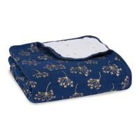 Aden+Anais Classic Dream Blanket, Decke für Babies und Kleinkinder, metallic gold deco