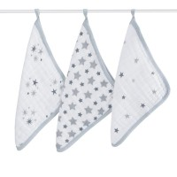 Aden+Anais Classic 3er Washcloth Set, twinkle