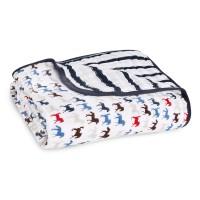 Aden+Anais Classic Dream Blanket, Decke für Babies und Kleinkinder, wild Horses