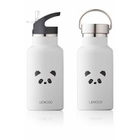 Anker Wasserflasche - Panda light grey
