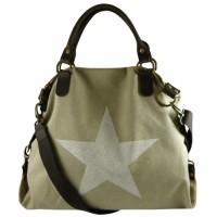 Canvas Tasche beige mit Stern