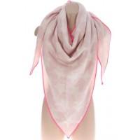 DREIECKSTUCH rosa mit pinkem Rand
