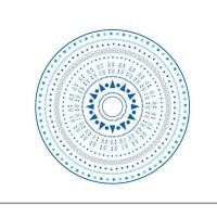 Strandtuch - Roundie mit GEO BLUE