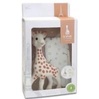 Sophie la Giraffe mit Stoffbeutelchen