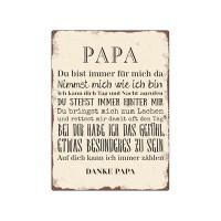 BLECHSCHILD Shabby WANDSCHILD PAPA