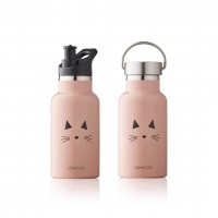 Anker Wasserflasche - cat rose