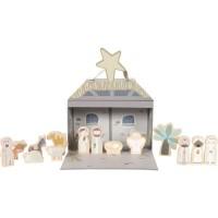 Spielkoffer, Weihnachtskrippe, 16 Teile, mit Figuren aus Holz, von Little Dutch
