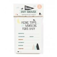 """Baby Shower – Wunschkarten zum Ausfüllen von Milestone – Design """"Over the moon"""""""