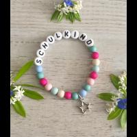 Armband SCHULKIND  - Mädchen mit pink und blau