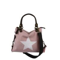 Canvas Tasche rosa mit Stern (Größe KLEIN)