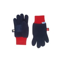 Finkid Sormikas -  Fleece Fingerhandschuhe navy/red