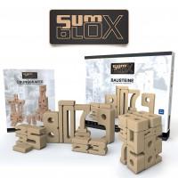 SumBlox Set Basic - 43 große Holz-Bausteine in Form von Zahlen