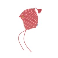 Finkid Tipsa - Zipfelstrickmütze rose/offwhite