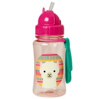 Zoo Straw Bottle - Lama