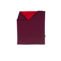 Finkid Tuubi Plus - Jersey Schalkragen mit Kuschelfleece navy/red OS