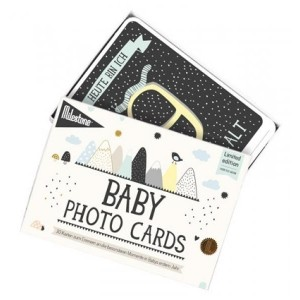 Milestone Baby Cards - over the moon