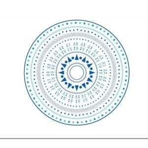 Nayla-ROUNDIE GEO BLUE Strandtuch 150 cm Durchmesser