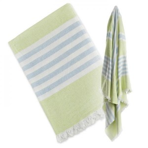 Lulujo-Turkish Towel Lime green&blue